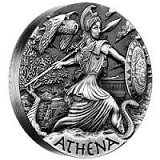 2oz Silber Antic Finish Goddesses of Olympus Athene