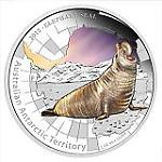1 Oz Silber Australien Antarctic Elephant Seal / See Elefant 2015 Proof in Farbe