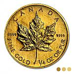 Goldmünze 1/4 oz Gold Maple Leaf  diverse Jahrgänge