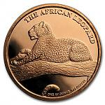 1 Unze Copper Round - The Silver Kruger ( African Leopard )