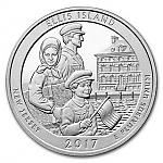 5 oz Silber USA Amerika the Beautiful 2017 New Jersey Ellis Island