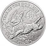 1 Unze Silber Serie Lunar UK Hund 2018 - Year of the Dog Großbritannien