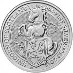2 oz Silber UK - Royal Mint Queens Beasts - The Unicorn of Scotland 2017