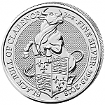 2 oz Silber UK Queens Beasts - The Black Bull of Clarence 2018