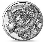 1 OZ Silver Round The Chinese - World of Dragons Serie