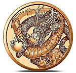1 OZ Copper Round Golden State Mint The CHINESE - World of Dragons gekapselt
