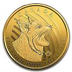 1 Oz Goldmünze Maple Leaf Serie Call of the Wild - Bobcat - Rotluchs 2020