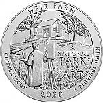 5 Oz Silbermünze Amerika the Beautiful Weir Farm National Historic Site Connecticut 2020