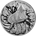 1 Oz Silbermünze Australien Great White Shark 2021 - Australias Most Dangerous