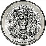 1 Oz Silbermünze Niue Truth Coin Series - Roaring Lion of Judah 2021