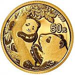 3 Gramm Goldmünze China Panda 2021 in Originalfolie