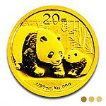 Goldmünze China Panda 2011 - 1/20 oz Gold