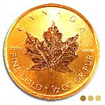 Goldmünze Kanada: Goldmünze Maple Leaf 1/2 oz Gold
