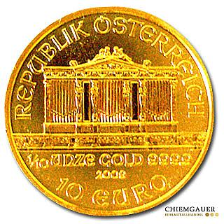 Goldmünze Wiener Philharmoniker 110 Unze Gold Goldmünzen Zum