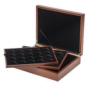 Muenzkassette - Muenzbox aus Holz für Queens Beasts 2 oz Silber- und 1/4 oz Gold- und 1 oz Goldmuenzen