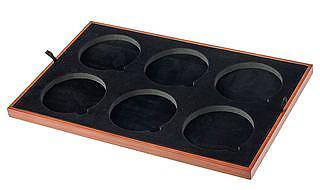 Einlage Schatztruhe und Universalbox für 6 Münzen 85 mm - Hohe Ausführung