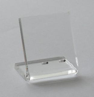 Acrylglasaufsteller 80 x 80 mm, stehend