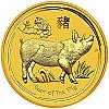 2 Oz Goldmünze Australien Lunar II Schwein 2019 - Year of the Pig
