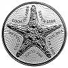 1 Oz Silbermünze Cook Islands Seestern Starfish 2019