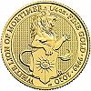 1/4 oz Goldmünze The White Lion of Mortimer 2020 Queens Beasts Serie